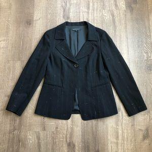 Lafayette 148 NY Black Wool Suit Blazer Jacket